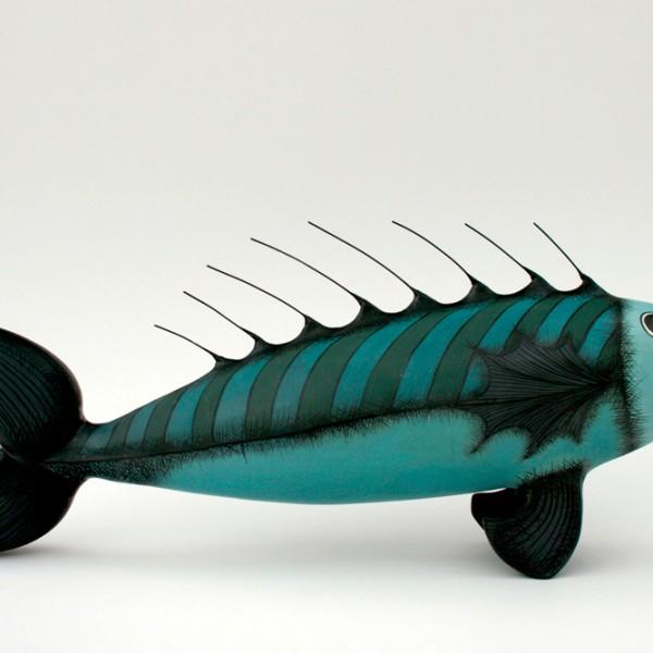 Ceramic fish sculpture created for Ceramic fish sculpture