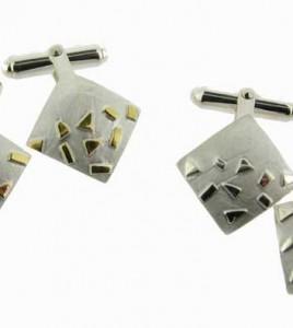 Square-Silver-&-Gold-Cufflinks