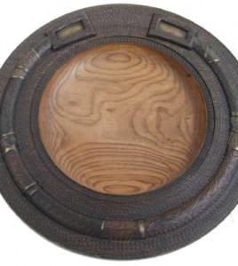 Turned Elm Wooden Bowl